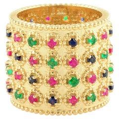 2.22 Carat Multi Gemstone 14 Karat Gold Ring