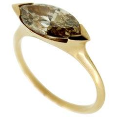2.23 Carat Brown Marquise Diamond Rose Gold Cocktail Ring