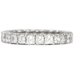 2.24 Carat Asscher Cut Diamond Eternity Band