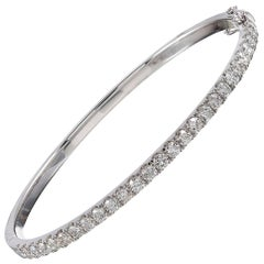 2.24 Carat Hinged Diamond Bangle