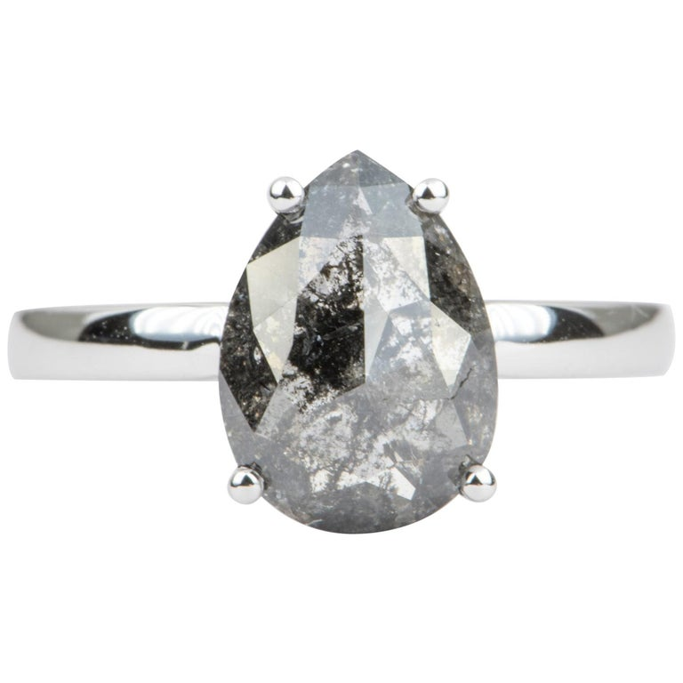 2.24 Carat Pear Shape Diamond Solitaire Engagement Ring 14 Karat Gold AD2021-5