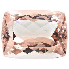 22.46 Carat Cushion Cut Morganite Loose Gemstone