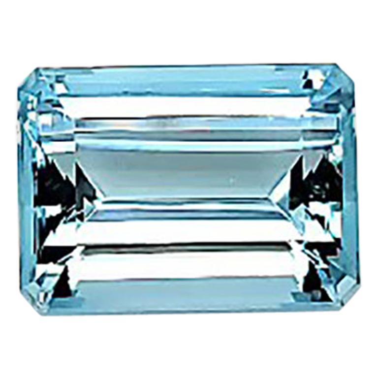 22.49 Carat GIA Certified Intense Blue Emerald Aquamarine Natural Gemstone