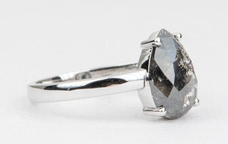 Pear Cut 2.24 Carat Pear Shape Diamond Solitaire Engagement Ring 14 Karat Gold AD2021-5