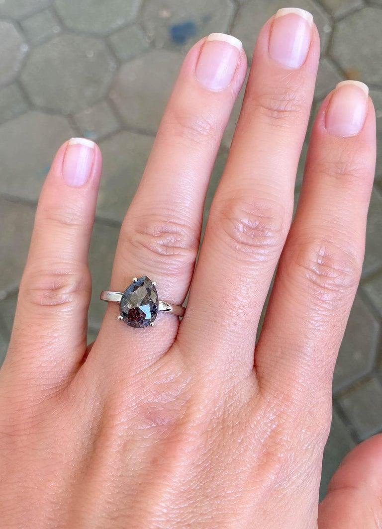 2.24 Carat Pear Shape Diamond Solitaire Engagement Ring 14 Karat Gold AD2021-5 2