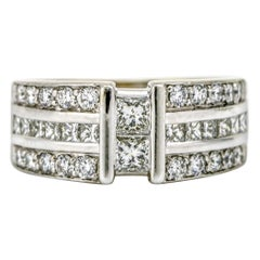 2.25 Carat 14 Karat White Gold Diamond Band Ring