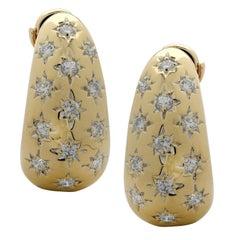 2.25 Carat Diamond Hoop Earrings