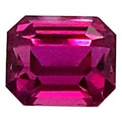 2.25 Carat GRS Certified Octagon Cut Vivid Purple-Red Ruby