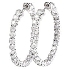 2.25 Carat Natural Diamond 18 Karat Solid White Gold Earrings