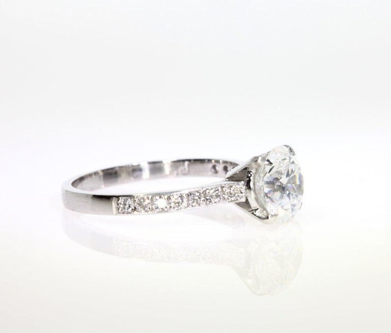 Wedding Ring On Sale.2 25 Carat Round Cut Diamond Engagement Ring On Platinum