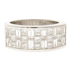 2.25 Carat Total Princess Cut Diamond Cocktail Ring in 18 Karat White Gold