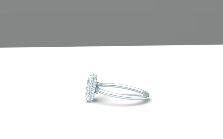 Modern 2.25 Carat F-VSE GIA Certified Radiant Diamond Engagement Ring For Sale