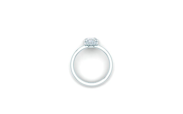 Radiant Cut 2.25 Carat F-VSE GIA Certified Radiant Diamond Engagement Ring For Sale