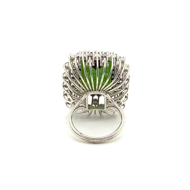 22.50 Carat Tourmaline Ring with 2.72 Carats of Diamonds from the 1940's For Sale 2