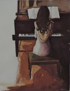 MAY PIANO, Painting, Watercolor on Watercolor Paper