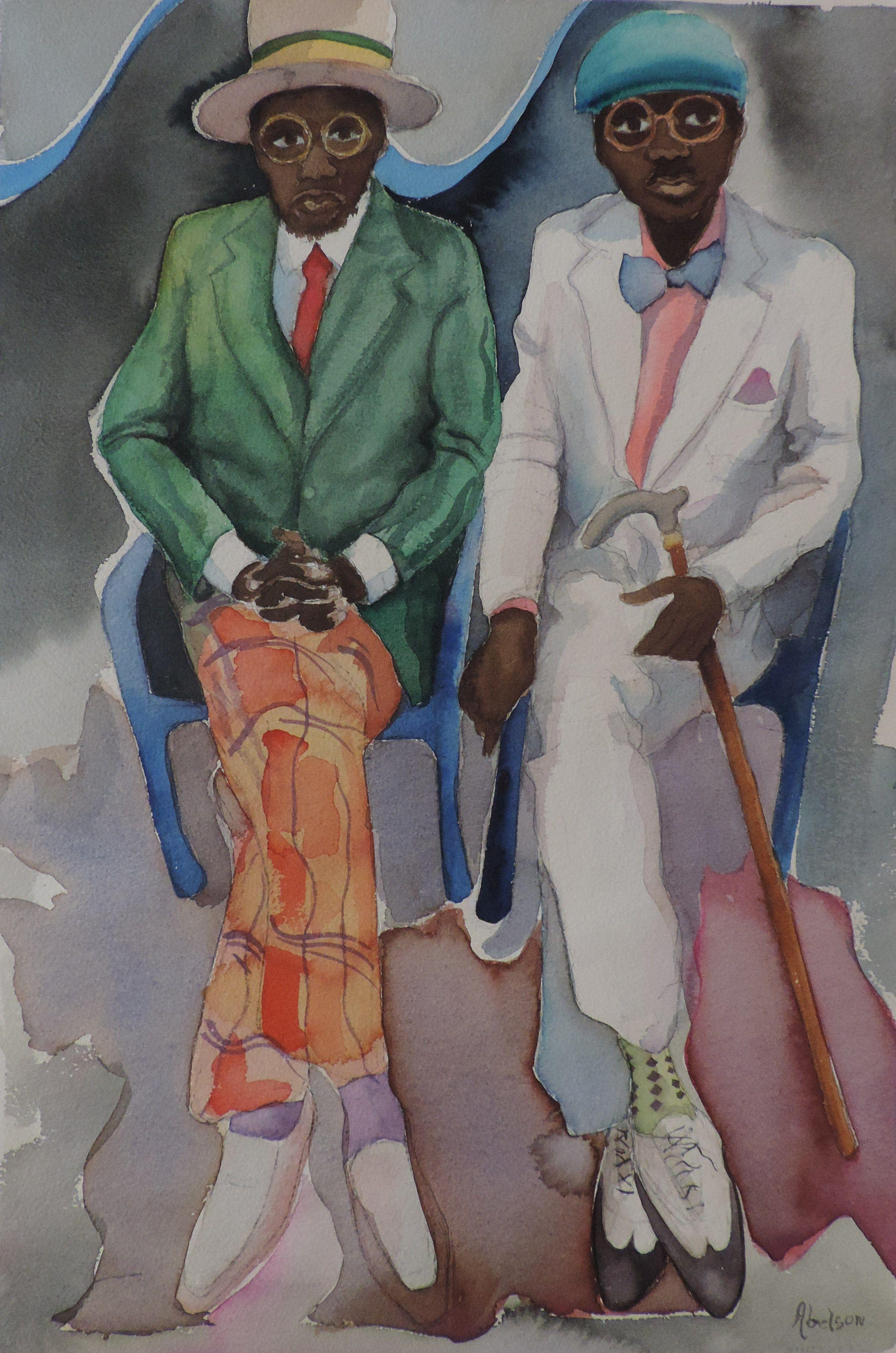 Brothers, Painting, Watercolor on Watercolor Paper