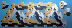 Geometric Deception: Canvas Painting Series, Painting, Acrylic on Canvas