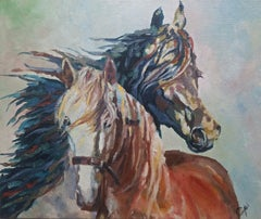 Horses, Painting, Oil on Canvas
