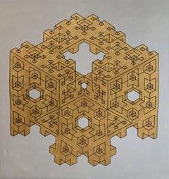 Geometric Evolution Series, Painting, Acrylic on Canvas