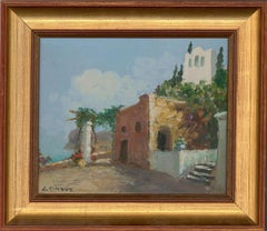 L. Chique - Signed & Framed Mid 20th Century Oil, Coastal Town