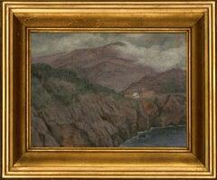 John Thornbury - Signed & Framed 1930 Oil, Majorca Cliffs