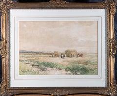 Edmund Morison Wimperis (1835-1900) - 1894 Watercolour, Hay Harvest