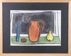 Framed 1999 Pastel - Still Life at Night