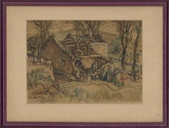 Edgar Owen Jennings (1899–1985) - Mid 20th Century Watercolour, Dairy In Ruins
