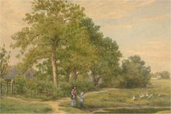 1874 Watercolour - The Duck Pond