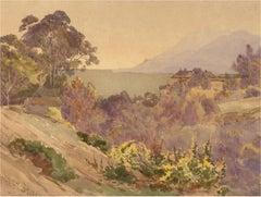 Albert Stevens  (fl.1872-1902) - Late 19th Century Watercolour, Summer Landscape
