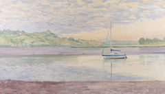 Mary Beresford-Williams (b.1931) - 1989 Oil, Pastel Sky with Boats