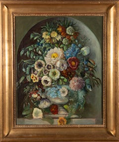F.L - Fine Framed Late 19th Century Oil, Ornate Bouquet