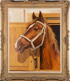 Osvald Hinteregger (b.1920) - Mid 20th Century Oil, Portrait of a Horse