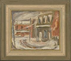 James Gordaneer (b.1933) - 1954 Oil, Winter Street Scene