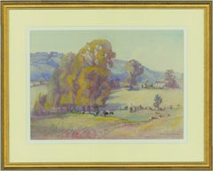 Isabel Wrightson (b.1890) - Signed 1964 Watercolour, Arundel Park from Burpham