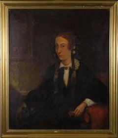 R.A.C. Gooch (fl. 1845 - 1871) - Signed & Framed 1858 Oil, Portrait of Lady