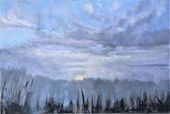 Misty Winter Sunrise, Painting, Oil on Canvas