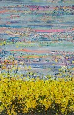 Mustard Field, Painting, Acrylic on Canvas