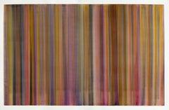 Sliding Colors Orange & Blue, Painting, Acrylic on Canvas
