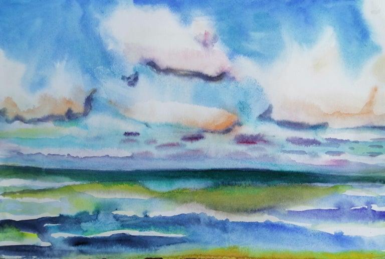 Free Sea - Baltic Sea, Painting, Watercolor on Watercolor Paper - Art by Marko Fenske