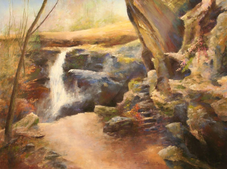Toward the Hemlock Cliffs, Hoosier National Forest, Drawing, Pastels on Pastel - Art by Bob Palmerton