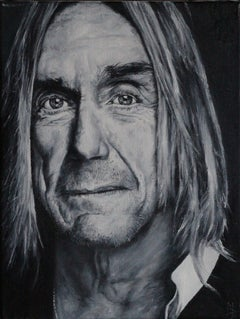 Iggy pop, Painting, Oil on Canvas