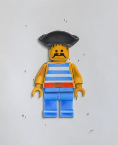 Lego Man, Drawing, Pencil/Colored Pencil on Paper