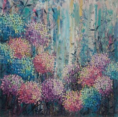 Twilight Blooms, Painting, Oil on Canvas