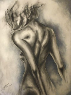 Winter, Drawing, Charcoal on Canvas