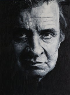 Johnny Cash, Painting, Oil on Canvas