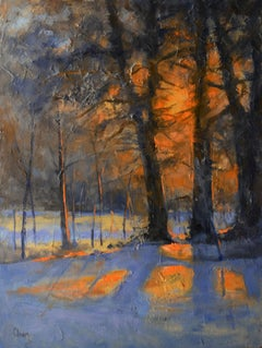 Light at Sunrise, Painting, Oil on Other