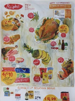 Supermarket Ad, Painting, Watercolor on Paper