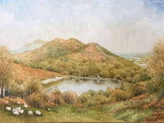 The Malvern Hills. Worcestershire Beacon., Painting, Watercolor on Watercolor