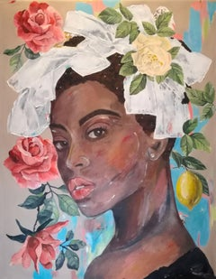 Betty - Mysterious Rose Collection, Painting, Acrylic on Canvas